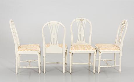 A swedish gustavian style 5 pcs dining furniture.