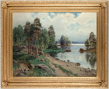 ALFRED THÖRNE, ALFRED THÖRNE, oil on canvasm signed Alfr. Thörne and dated 1878.