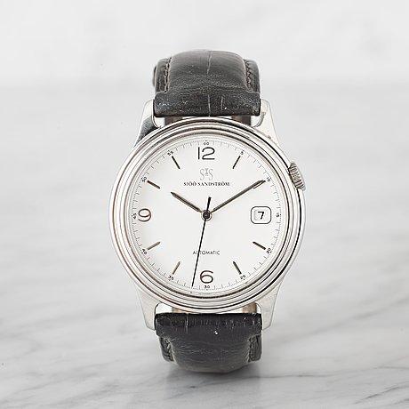 SjÖÖ & sandstrÖm, automatic, wristwatch, 37 mm,
