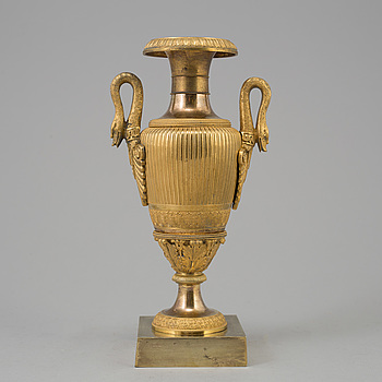EMPIRE, AN EMPIRE ORMOLU VASE, first half of the 19th century.