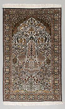 MATTA, Kashmir, silke på bommullsvarp, 92x150 cm.