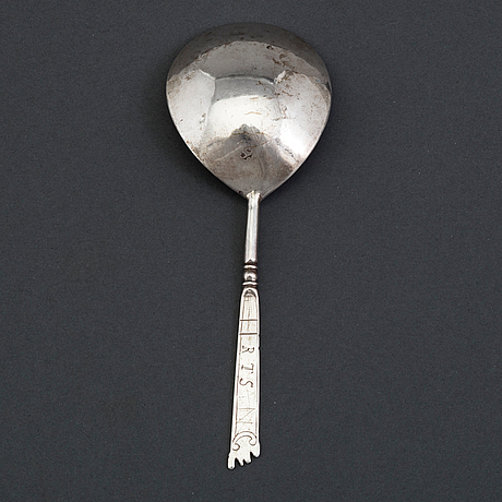 A norwegian 17th century silver spoon