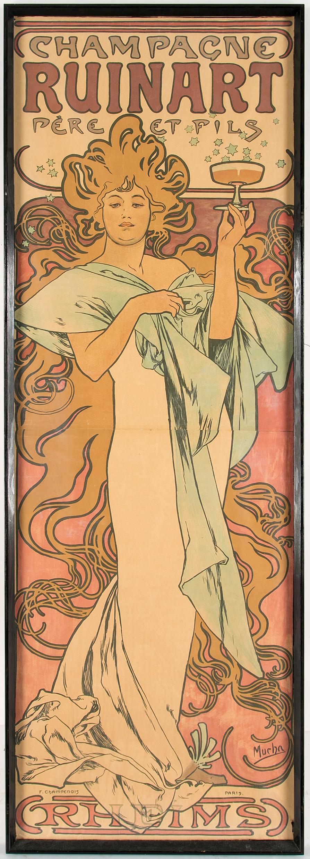 ALPHONSE MUCHA, a lithographic Art Nouveau poster, F