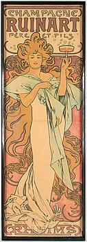 ALPHONSE MUCHA, a lithographic Art Nouveau poster, F. Champenois, Paris France, circa 1900.