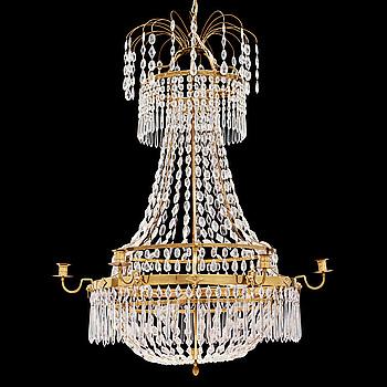 LJUSKRONA, för sju ljus, sengustaviansk stil, 1900-tal.