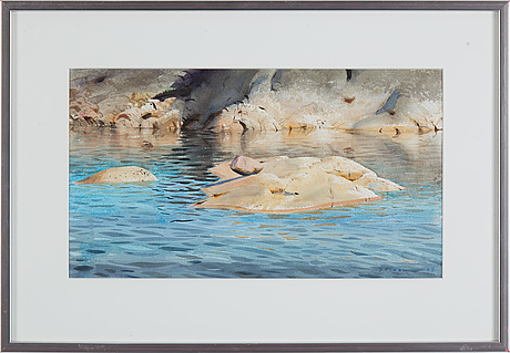 Stanislaw zoladz, watercolor, signed and dated -88.