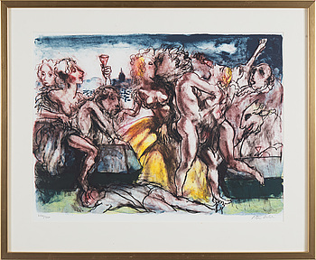 PETER DAHL, PETER DAHL, lithograph in colors, signed and numbered 284/350.