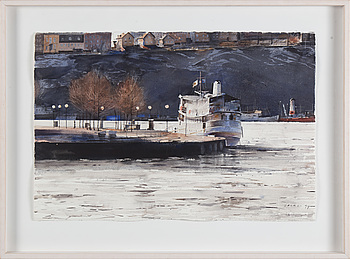 STANISLAW ZOLADZ, watercolor, signed and dated -94.