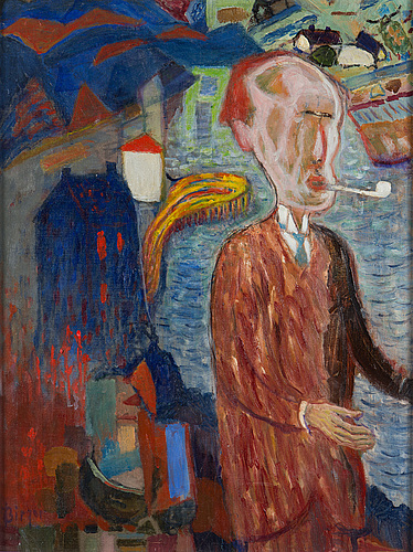 Birger birger-ericson, oil on canvas, signed.