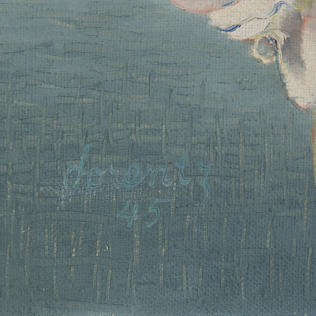 Waldemar lorentzon, oil on canvas, signed and dated 1945 on verso.
