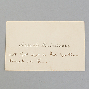 A letter by, August Strindberg.
