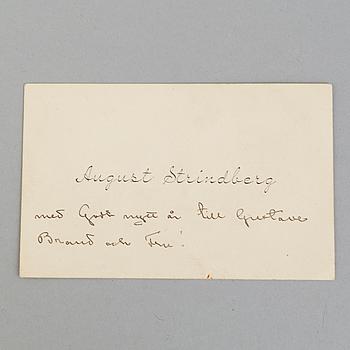 AUGUST STRINDBERG, brev.