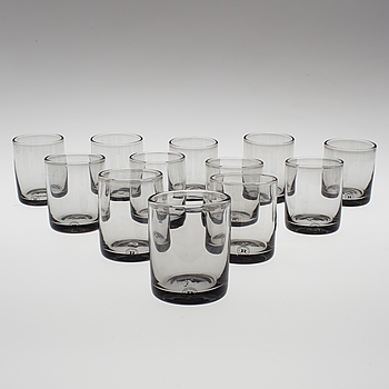 "REIJMYRE GLASBRUK, A set of twelve ""Antik"" glasses by Reijmyre Glasbruk."