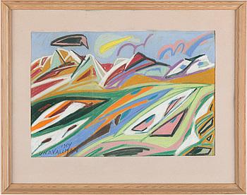UNO VALLMAN, pastell, signerad och daterad 1954.