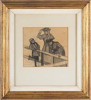THOMAS THEODOR HEINE, blyertsteckning, signerad och daterad 1884.