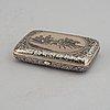 A russian silver niello box,  moscow 1895.