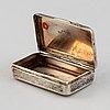 A russian silver niello box, assayers mark andrej antonowitsch kowalskij, moscow 1827-56.
