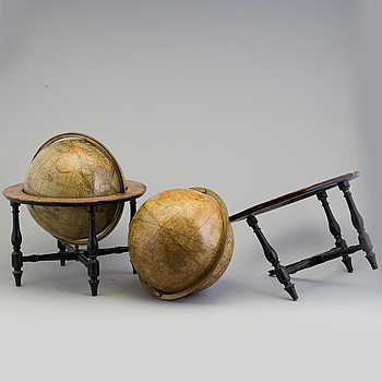 Cary's New Terrestial and  Celestial Globes, early 19th century.
