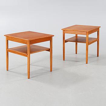 """ANDERS LÖFGREN, sängbord, ett par, """"Safir"""", Tingströms, 1960-tal."""