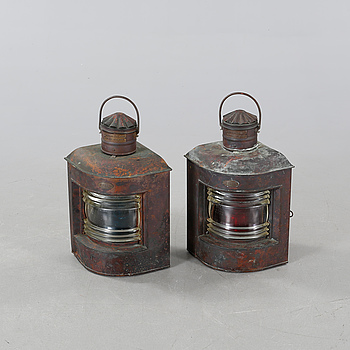 A pair of 19th century lanterns from Ahlemann and Schlatter in Bremen.