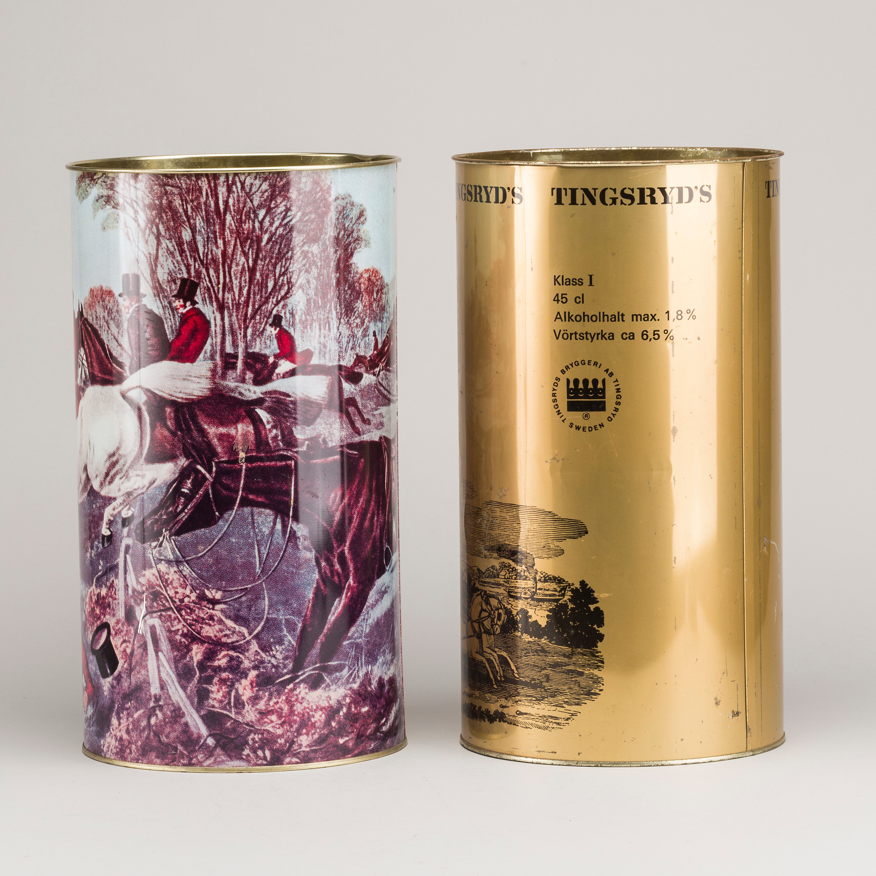 TWO UMBRELLA STANDS/ BEER CANS, 1960/70´s  - Bukowskis