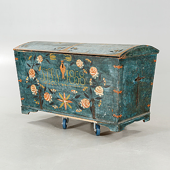 A coffer from 1858.