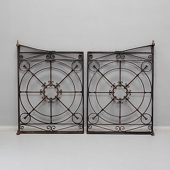 Two iron gates. first half 20th century.