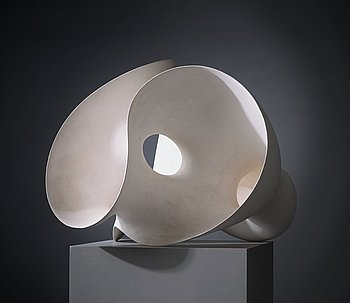 16. Eva Hild, a unique 'Breaking up-series' sculpture in stoneware clay with kaolin-engobe surface, Sweden 2002.