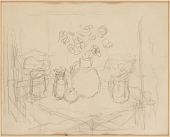 CARL KYLBERG, pencil on paper, unsigned.