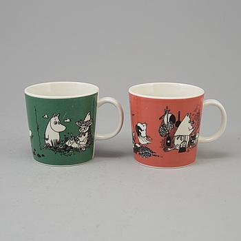 MUMINMUGGAR, 2 st, porslin, Moomin Characters, Arabia, Finland, 1990-tal.