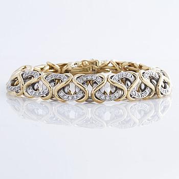 ARMBAND, med briljantslipade diamanter ca 1.30 ct.