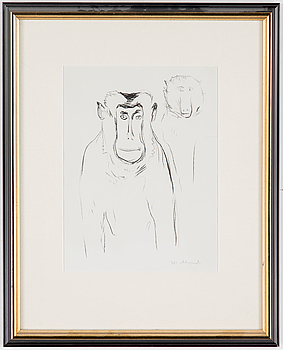 EDVARD MUNCH, EDVARD MUNCH, lithograph, signed in pencil.