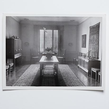 Nils ahrbom & helge zimdahl, a walnut table, stockholm 1932.