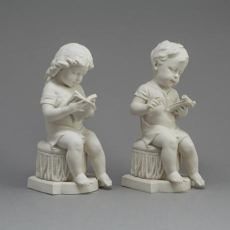Two parian figures, gustafsberg 1911