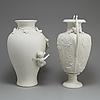 Two parian vases, rörstrand och gustafsberg, ca 1900