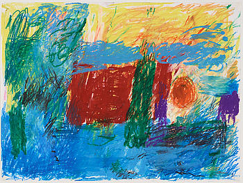 ARNE TENGBLAD, pastel on paper, signed Arne Tengblad and indistinctly dated.