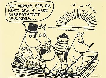 AFFISCHER, 6 stycken, Tove Jansson, Bulls Presstjänst, Stockholm, 1960-tal.