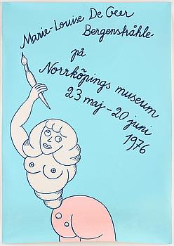 MARIE-LOUISE EKMAN, exhibition poster.