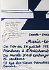 Marie-louise ekman, exhibition poster with handwritten personal dedication from the artist.