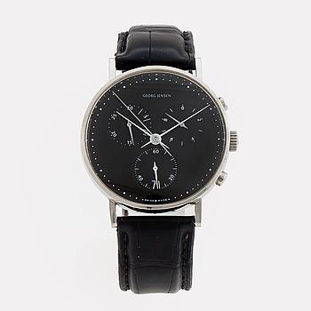 GEORG JENSEN, design Henning Koppel, kronograf, armbandsur, 38 mm,