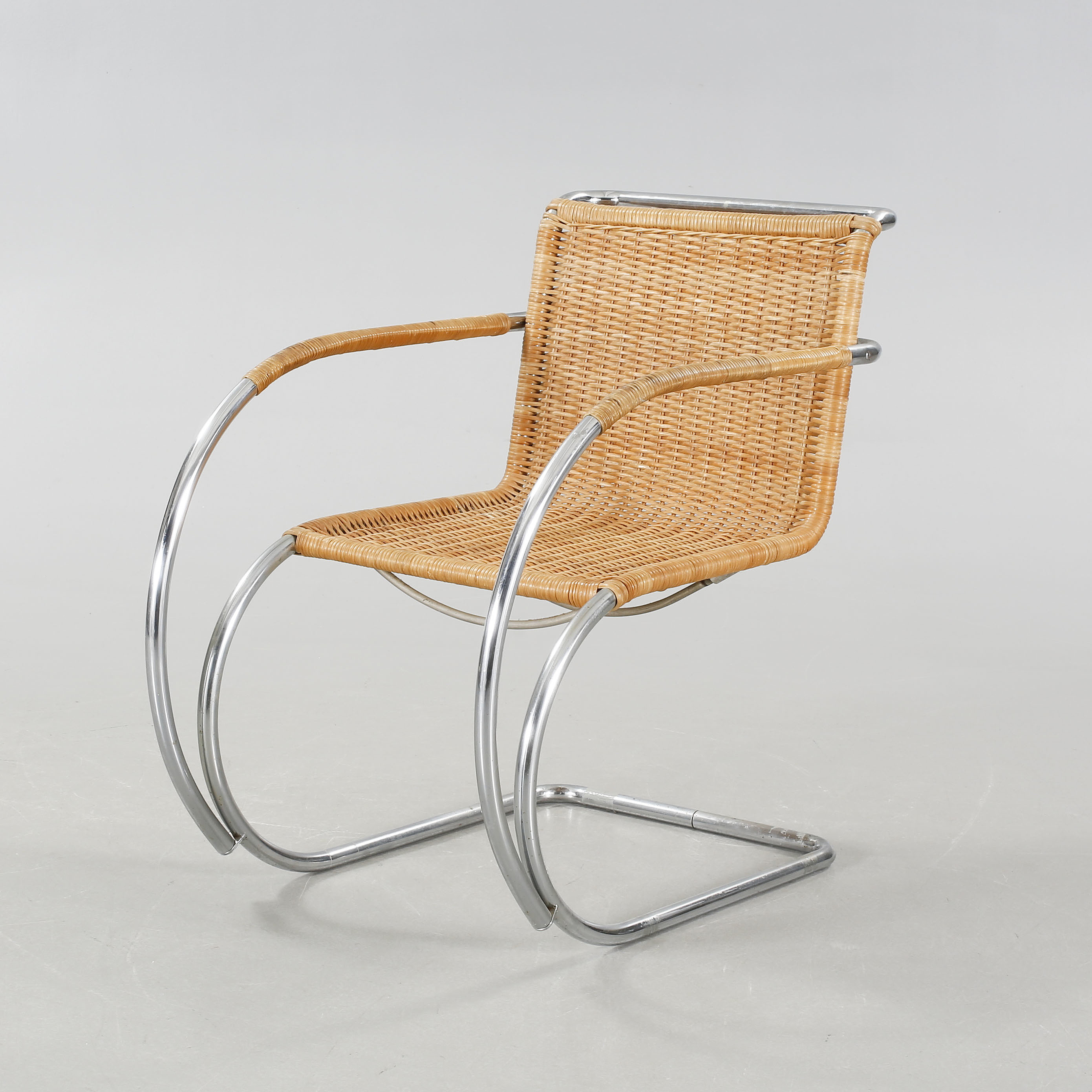 An Arm Chair By Ludwig Mies Van Der Rohe For Thonet, Late 20th Century.    Bukowskis