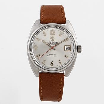 LAGONDA, Calendar super, armbandsur, 38 x 35 (41) mm,