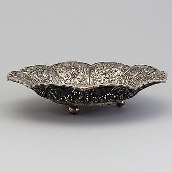 a oriental silver bowl.