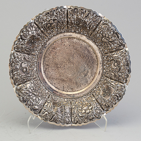 SkÅl, silver, orientalisk.