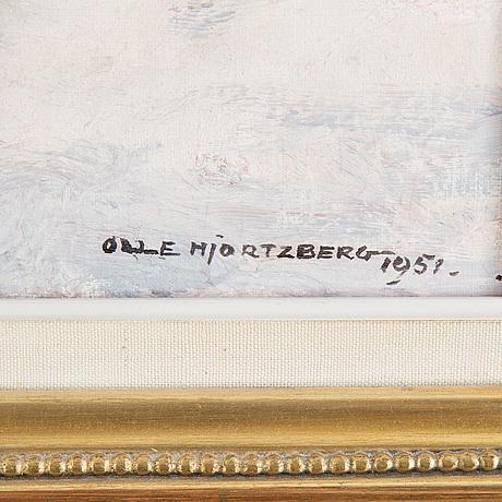 Olle hjortzberg, olja på duk, signerad olle hjortzberg och daterad 1951