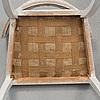 Karmstolar sk sullastolar, ett par, sengustavianska stockhomsarbeten, 1790-tal.