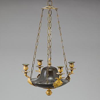 AMPEL, för fyra ljus, empire, 1800-talets början.
