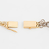 Halsband, tvåradigt, manglad länk