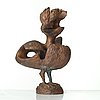 Tyra lundgren, a bronze sculpture of a bird, sweden, dated 1972.