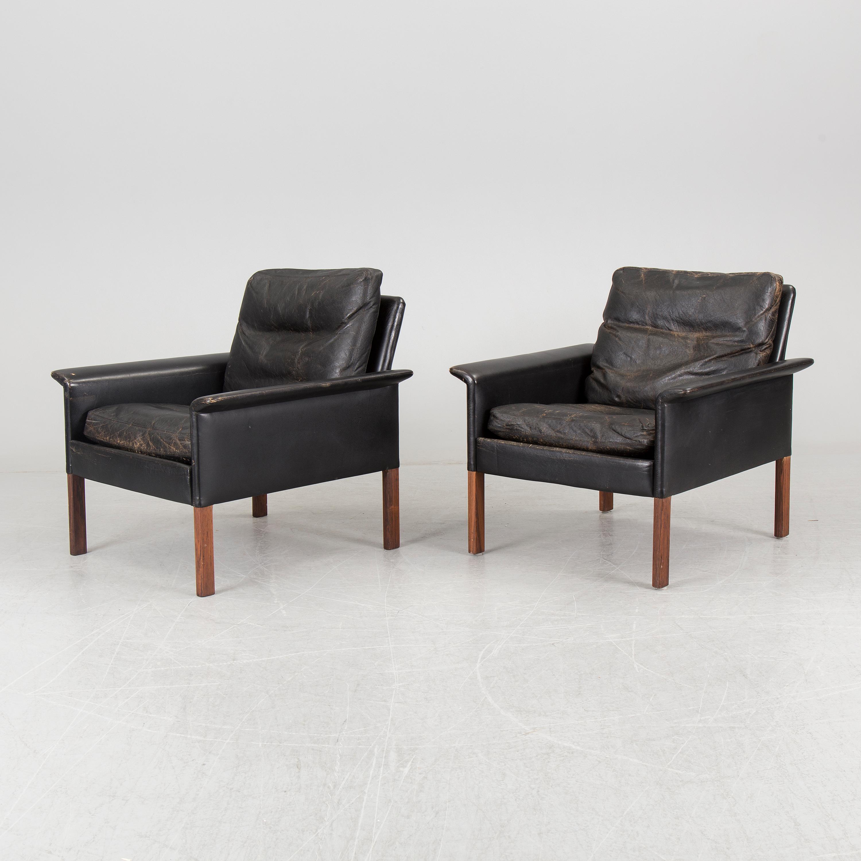 A Hans Olsen Mid 20th Century Danish Modern Sofa Pair Of